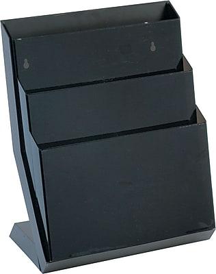 Rubbermaid® Desktop Smoke Classic Hot File®, 3 compartment