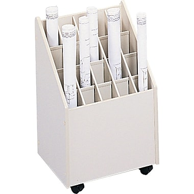 Safco Laminate Mobile Roll File, White, 23 1/4