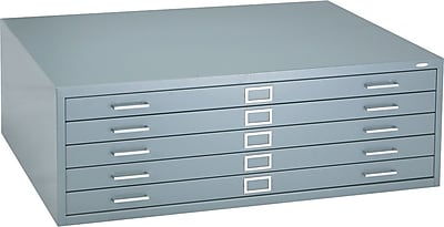 Safco® Versatile Steel Flat Files, 5-Drawers: 43x32