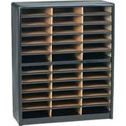 Safco® Value Sorter Literature Organizer, 36 Compartment, Black