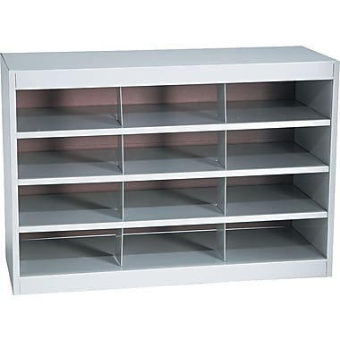 Safco Metal E-Z Stor ® Project Centers, Gray, 12 Compartments