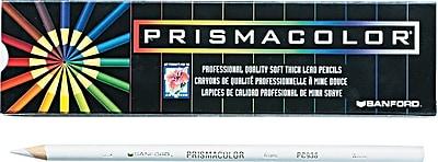Prismacolor Colored Pencils, White, 12/Pack (3365)