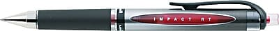 uni-ball Gel 207 Impact Retractable Pens, Bold Point, 1.0 mm, Red Ink/Silver Barrel