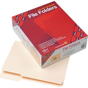 Smead® File Folders, Reinforced 1/3-Cut Tab, Varied Tab Positions, Letter Size, Manila, 100/Box