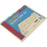 Smead®  Indexed File Folder Set, Monthly (Jan-Dec) Folders, Reinforced 1/5-Cut Tab, Letter Size, Manila, 12 per Set (11765)