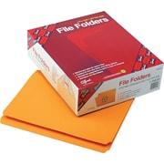 Smead®  File Folder, Reinforced Straight-Cut Tab, Letter Size, Goldenrod, 100 per Box (12210)