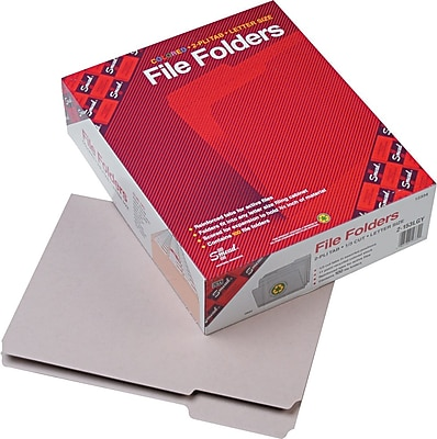 Smead Top Tab File Folders, 1/3 Tab Cut, Gray, Letter, 8 1/2
