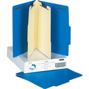 Smead®  Poly Classification Folder, 2 Dividers, Letter Size, Blue, 10 per Box (14045)