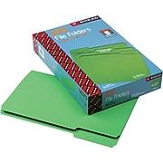 Smead CutLess® File Folder, 3 Tab, Legal Size, Green, 100/Box (17143)