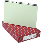 "Smead Insertable Metal Tab Pressboard File Folders, 1/3 Cut, Gray-Green, Legal,-size Holds 8 1/2"" x 14"", 25/Bx"