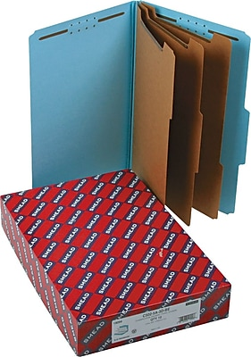 Smead® Pressboard Classification Folder with SafeSHIELD® Fasteners, 3 Dividers, 3