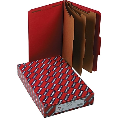Smead® Pressboard Classification Folder with SafeSHIELD®, 3 Dividers, 3