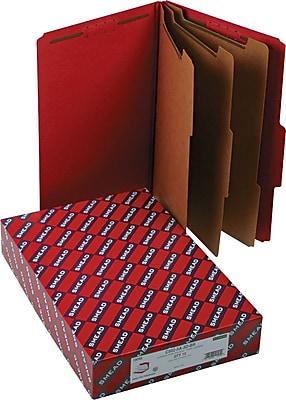 Smead® Pressboard Classification Folder with SafeSHIELD®, 3 Dividers, 3