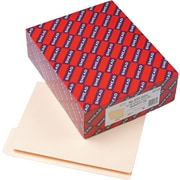 Smead®  End Tab File Folder, Shelf-Master® Reinforced 1/3-Cut Tab Top Position, Letter Size, Manila, 100 per Box (24135)