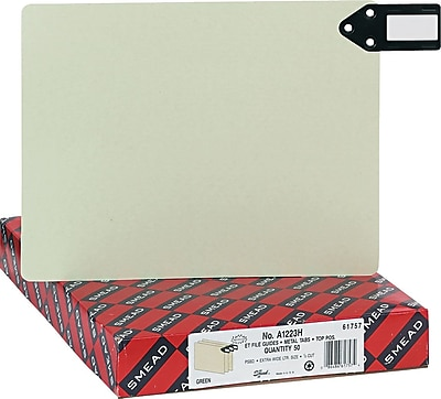 Smead End Tab Pressboard Guides, Horizontal Blank, 12 1/4