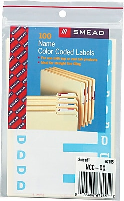 Alphabetical Character Labels, D And Q, Light Blue