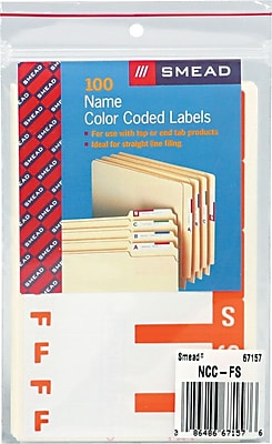 Alphabetical Character Labels, F And S, Orange