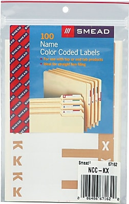 Alphabetical Character Labels, K And X, Light Brown