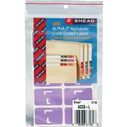 "Color Coded Label, ""L"", Lavender, 100 Labels Per Pack"