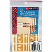 "Color Coded Label, ""W"", Yellow, 100 Labels Per Pack"
