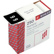 "Numeric Labels, 250 Labels/Roll, ""9"" Black"