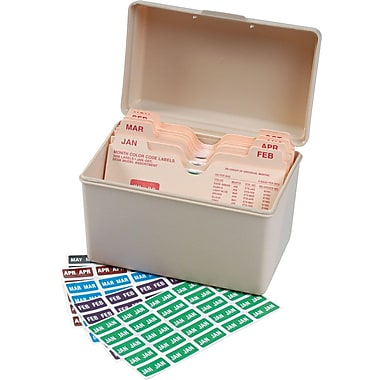 Smead® ETS Color-Coded Month Label, Jan.-Dec., Label Sheet, Assorted Colors (67450)