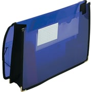 "Smead Poly Expanding Wallet, 2-1/4"" Expansion, Flap & Elastic Cord Closure, Letter, Purple (71952)"