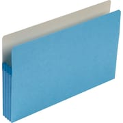 "Smead® Colored File Pockets, Legal, 3 1/2"" Expansion, Blue, Each"