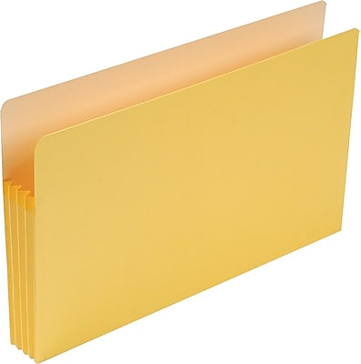 Smead® Colored File Pockets, Legal, 3 1/2