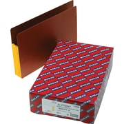 "Smead® Extra Wide Redrope End Tab File Pockets with Reinforced Tab and Colored Gusset, 3-1/2"" Expansion, Legal, 10/Box"