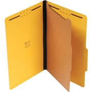 """Universal Recycled Reinforced Pressboard Classification Folder, 2"""" Expansion, Legal Size, Vivid Yellow, 10/Box (UNV10214)"""