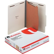 Universal Recycled Reinforced Pressboard Classification Folder, Letter Size, Gray, 10/Box (UNV10252)