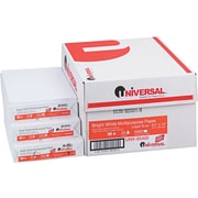 "Universal® Multipurpose Copy/Laser Paper, LEGAL-Size, 98/108+ US/Euro Brightness, 20 Lb., 8 1/2""H x 14""W, 5,000 Sheets/Ct"