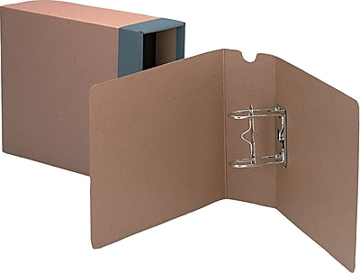 Globe-Weis® Columbia™ Binding Cases, Letter - Regular Arch, Brown, 8 1/2
