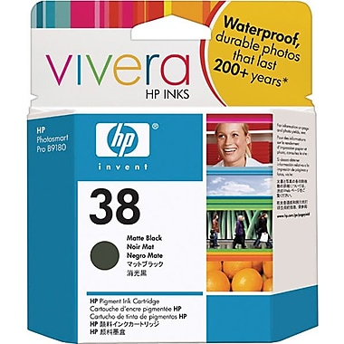 HP 38 Matte Black Pigment Original Ink Cartridge (C9412A)