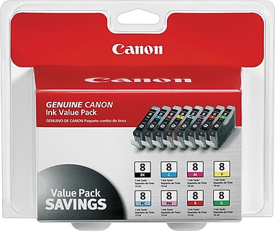 Canon® CLI-8 Photo Value Pack, Multi-pack (8 cart per pack)