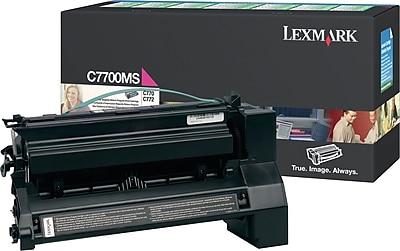 Lexmark Return Program Toner Cartridge, C7700MS, Magenta