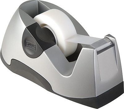 Staples Executive Desktop Tape Dispenser, Silver, Each (13566)