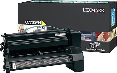 Lexmark C7700YH Yellow Toner Cartridge, High Yield