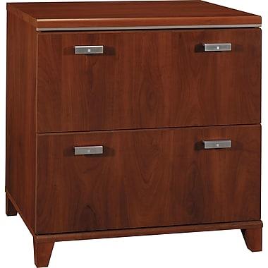 Bush® – Classeur latéral de la collection Tuxedo, 2 tiroirs, cerisier Hansen