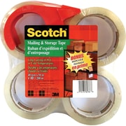 Scotch™ Super-Clear Packaging Tape, 4-Pack