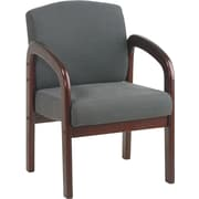 Office Star™  Wood Guest Chair, Mahogany Finish Wood with Graphite Fabric