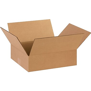 14''x12''x4'' Staples Corrugated Shipping Box, 25/Bundle (14124)