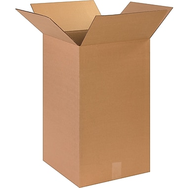 Boîte en carton ondulé, 14 po x 14 po x 24 po, lot de 15