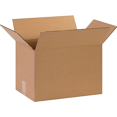 15''x10''x10'' Staples Corrugated Shipping Box, 25/Bundle (151010)