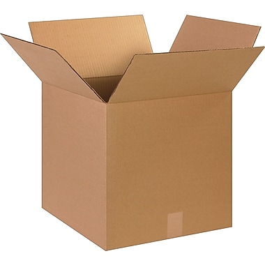15''x15''x15'' Staples Corrugated Shipping Box, 25/Bundle (151515)