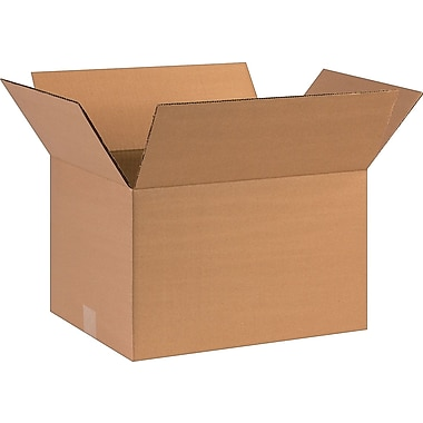 16''x12''x10'' Staples Corrugated Shipping Box, 25/Bundle (161210)