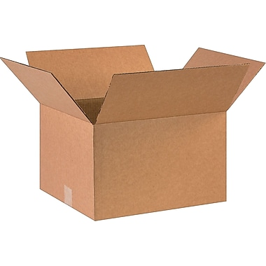 16''x14''x10'' Staples Corrugated Shipping Box, 25/Bundle (161410)