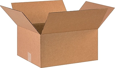 "16"" x 14"" x 8"" Shipping Boxes, 32 ECT, Brown, 25/Bundle (16148)"