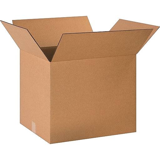 """20"""" x 16"""" x 16"""" Shipping Boxes, 32 ECT, Brown, 20/Bundle (BS201616)"""